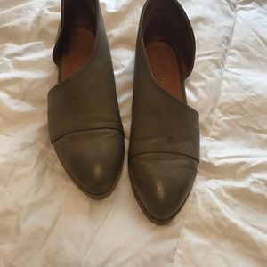 Brown cut out shoes